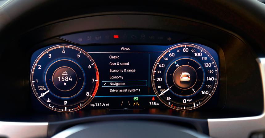 Панель приборов Volkswagen Teramont